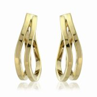 Jewellery 9ct Gold Twisted Hoop Earrings