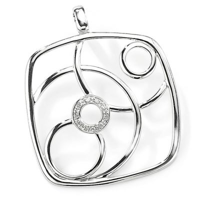 Jewellery 9ct White Gold White Diamond Pendant