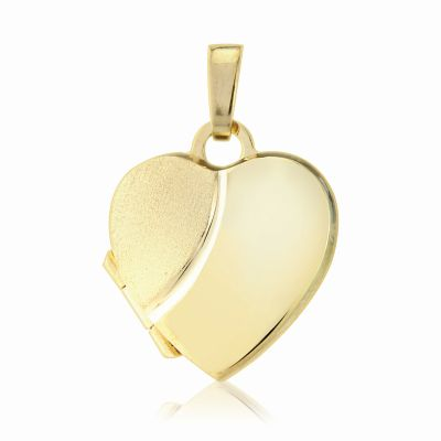 Jewellery 9ct Gold Heart-Shaped Locket