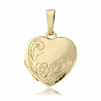 Jewellery 9ct Gold Heart-Shaped Family Locket