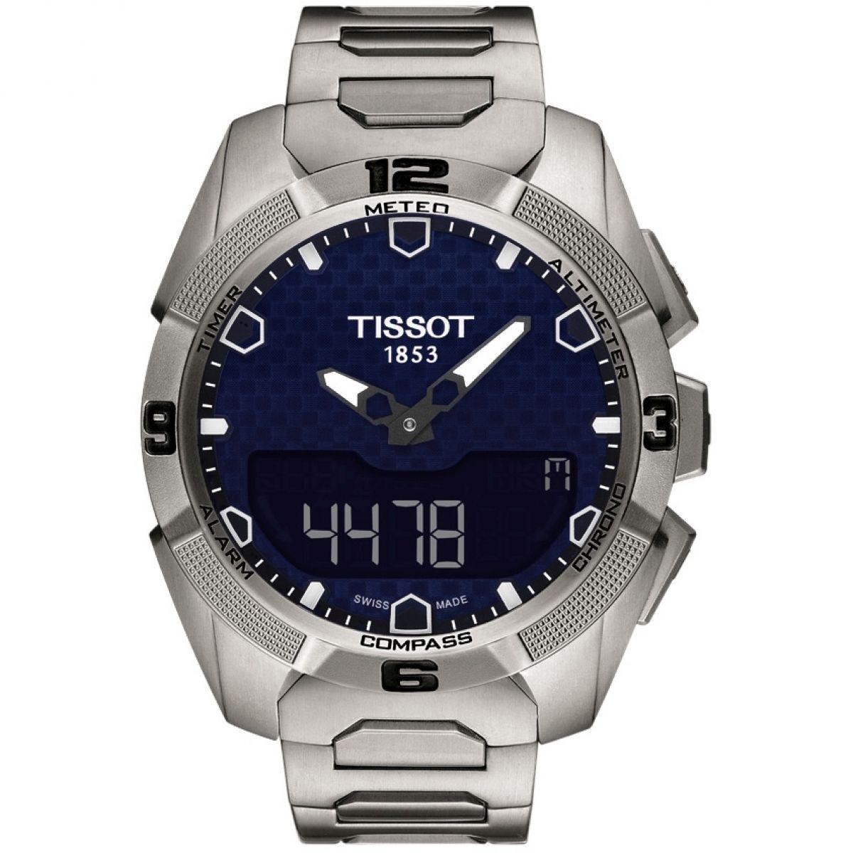gents tissot t touch expert solar chronograph watch t0914204404100 rh watchshop com Tissot Z254 354 Tissot T-Touch Titanium Watch