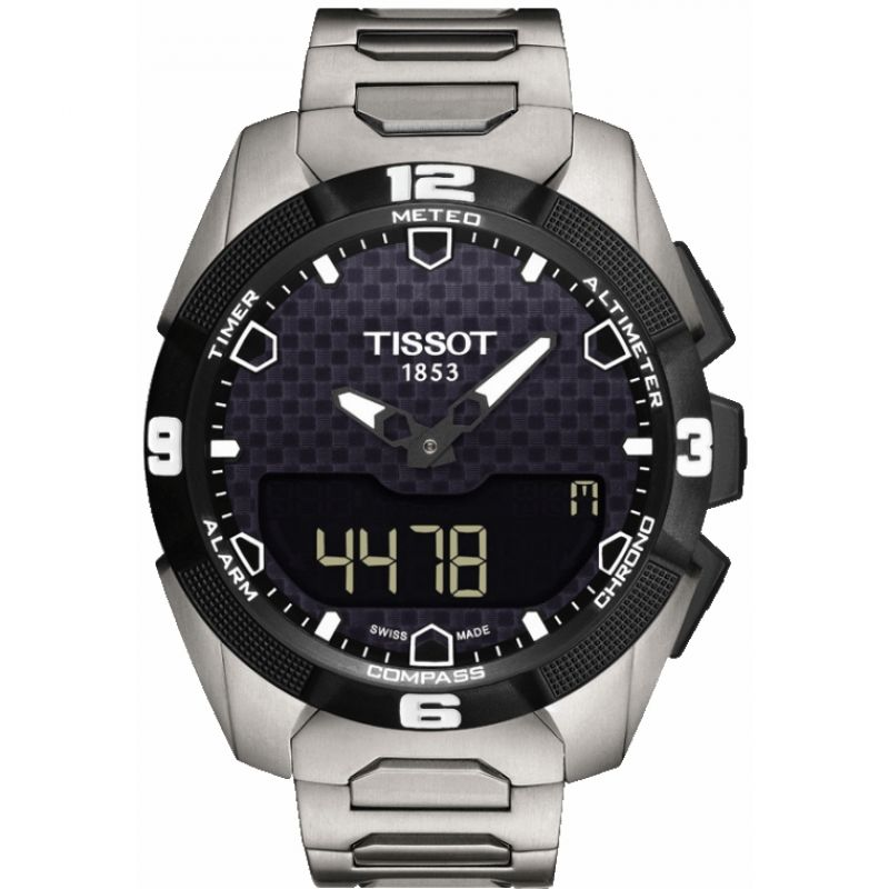Mens Tissot T-Touch Expert Solar Titanium Alarm Chronograph Solar Powered Watch T0914204405100