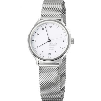 Mondaine Regular 33mm Helvetica No1 Damenuhr in Silber MH1R1210SM