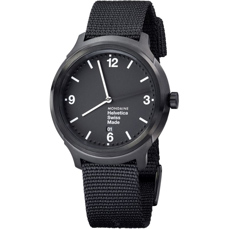 Mens Mondaine Helvetica No1 Watch MH1B1221NB