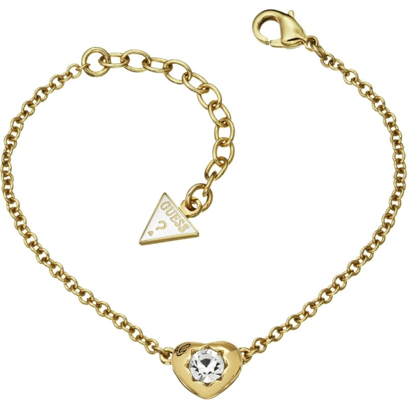 Ladies Guess PVD Gold plated Crystals Of Love Mini Bracelet UBB51414