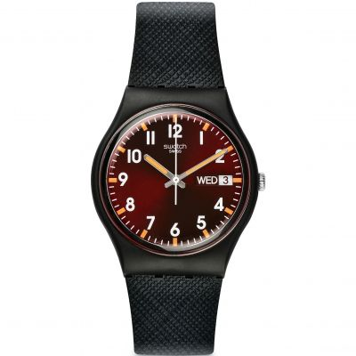 Swatch Original Gent Original Gent - Sir Red Unisexuhr in Schwarz GB753