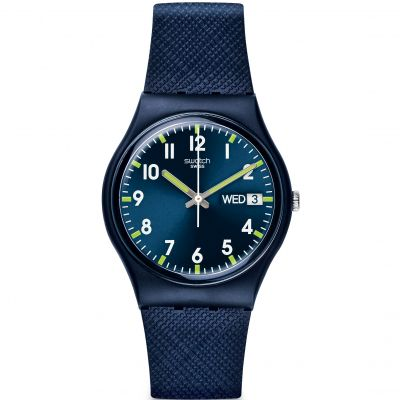 Swatch Original Gent - Sir Blue Unisexklocka Blå GN718
