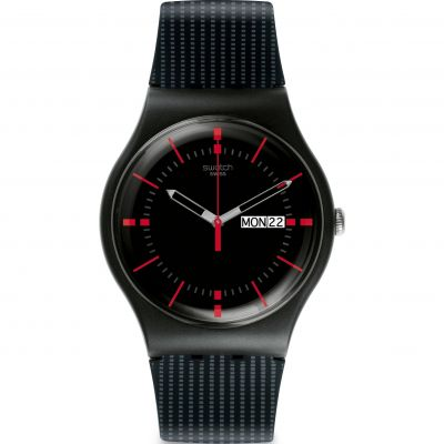 Swatch Originals New Gent New Gent - Gaet Unisexuhr in Schwarz SUOB714