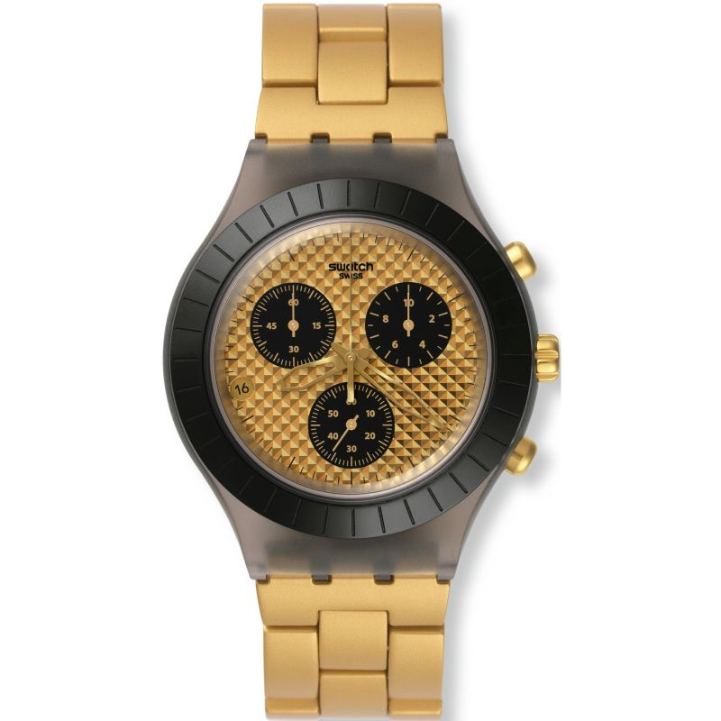 Unisex Swatch Diaphane - Desert Sands Chronograph Watch