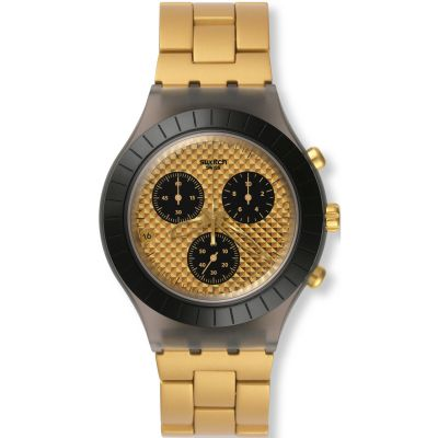 Unisex Swatch Diaphane - Desert Sands Chronograph Watch SVCM4010AG