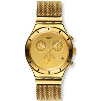 Unisex Swatch Irony Chrono - Golden Cover S Chronograph Watch