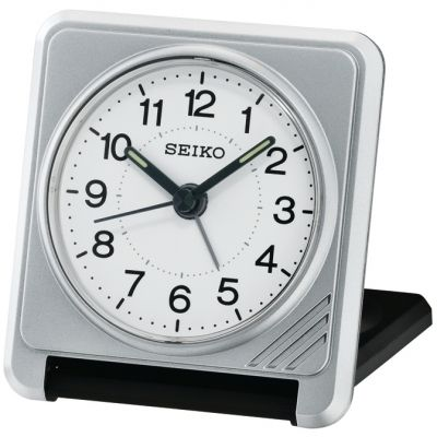 Seiko Clocks Travel Alarm Clock QHT015S