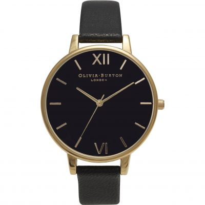 Black Dial Black & Gold Watch