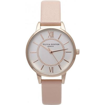 Wonderland Silver & Dusty Pink Watch