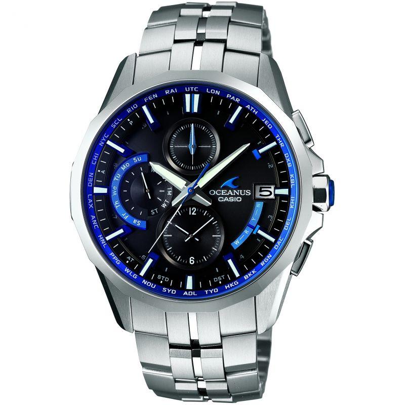 Mens Casio Oceanus Manta Smart Access Titanium Chronograph Radio Controlled Solar Powered Watch