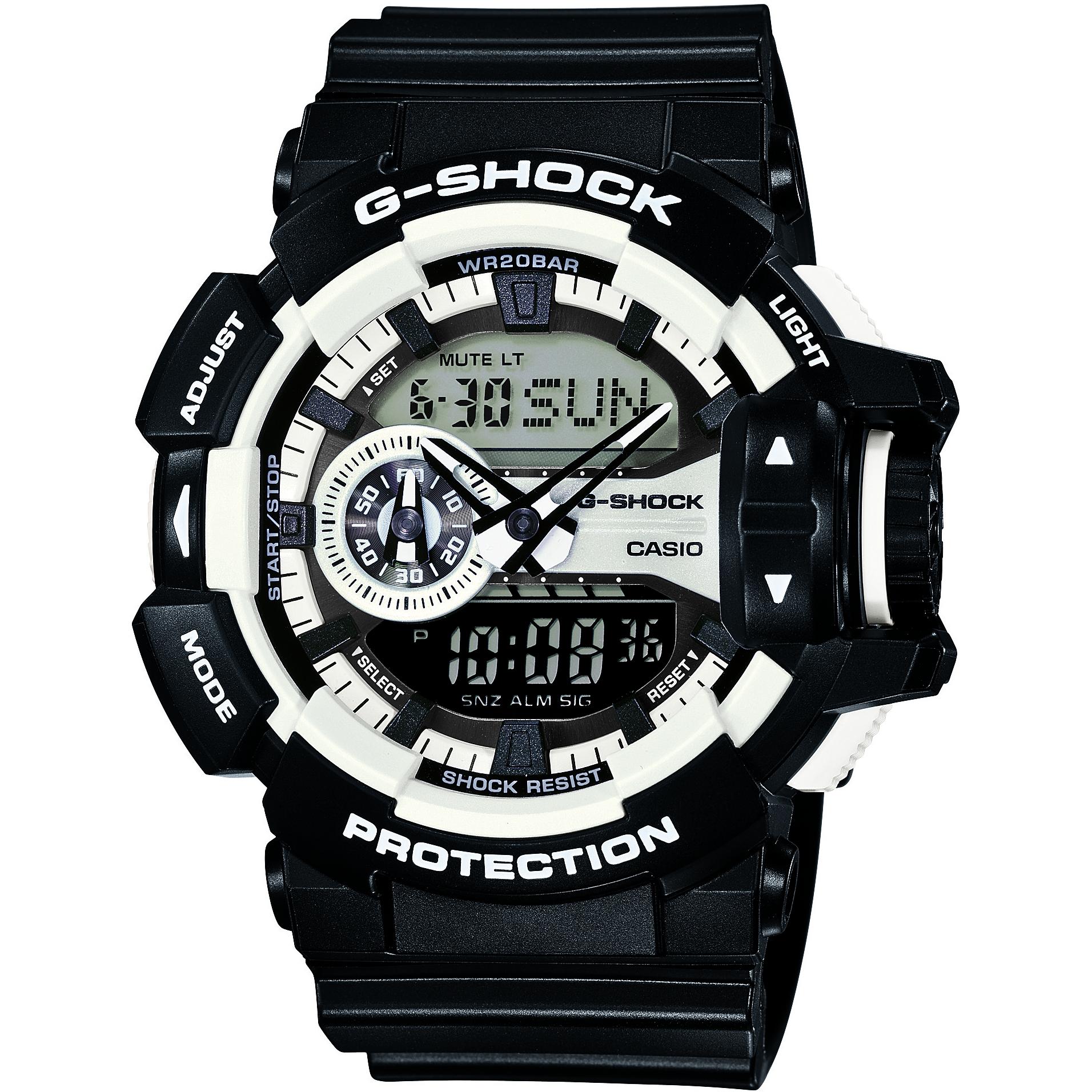 d2b9947f1b613 Gents Casio G-Shock Alarm Chronograph Watch (GA-400-1AER ...
