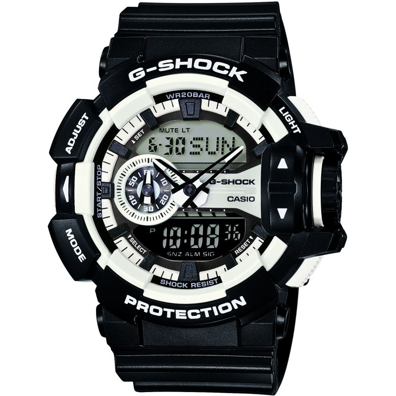 Mens Casio G-Shock Alarm Chronograph Watch GA-400-1AER