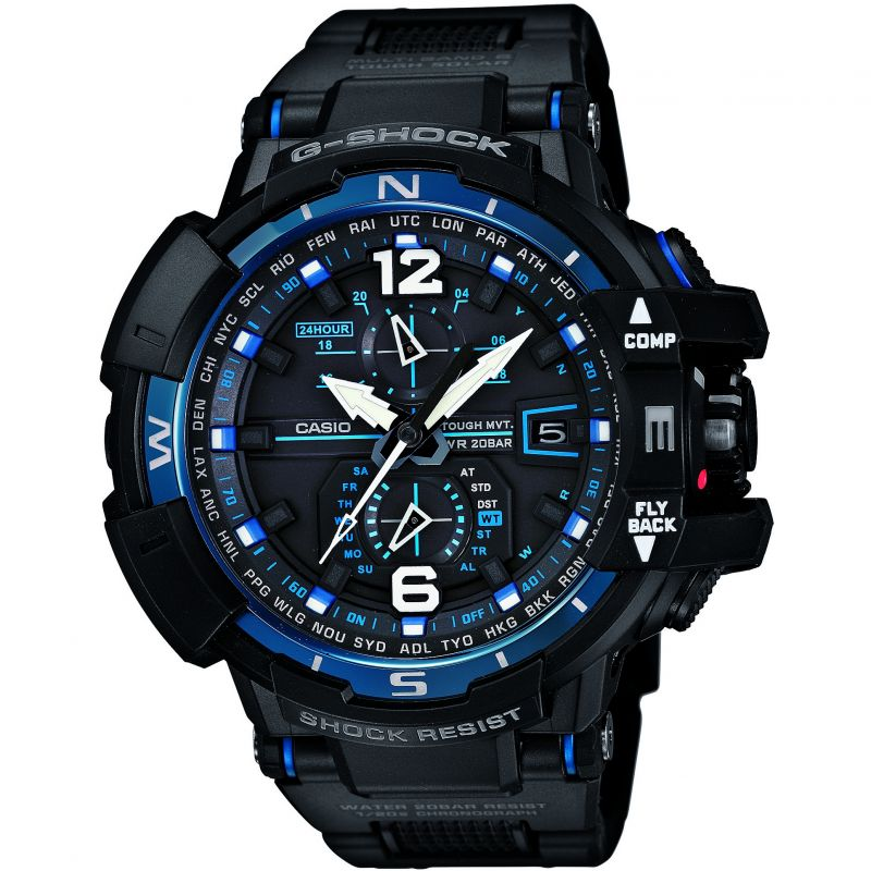 Mens Casio G-Shock Premium Gravity Defier Alarm Chronograph Watch