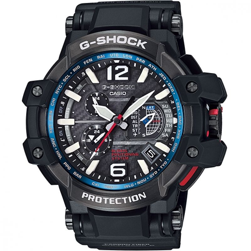Mens Casio Premium G-Shock Gravitymaster GPS Hybrid Alarm Chronograph Radio Controlled Solar Powered Watch