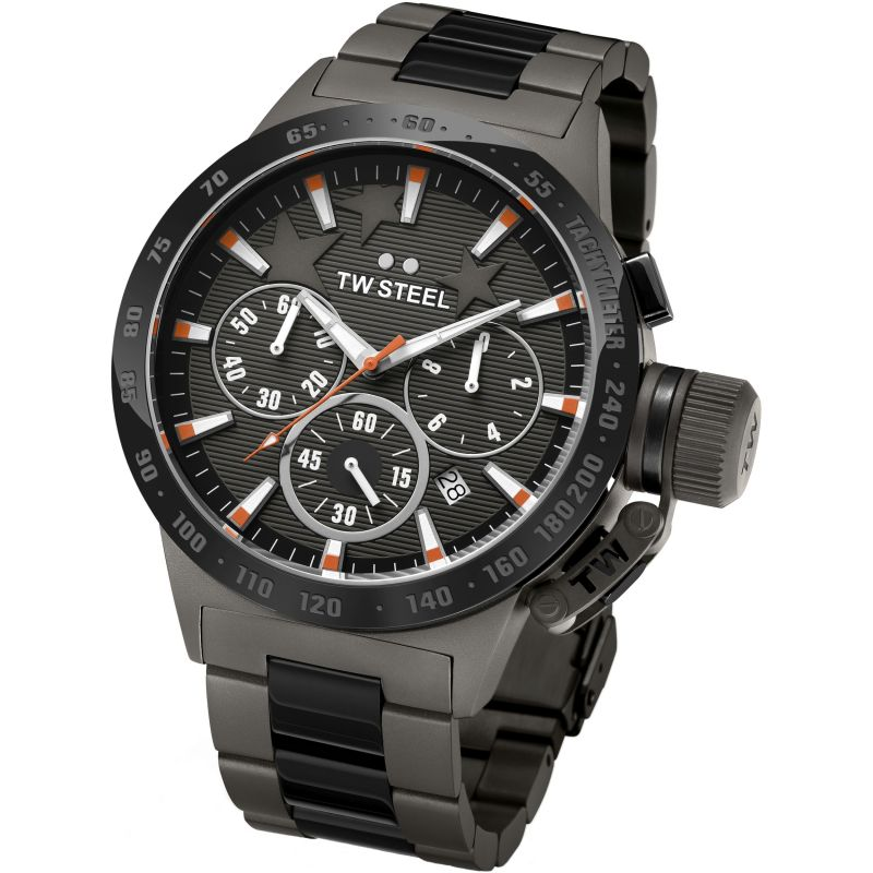 Mens TW Steel Canteen Michel Edition Chronograph 45mm Watch