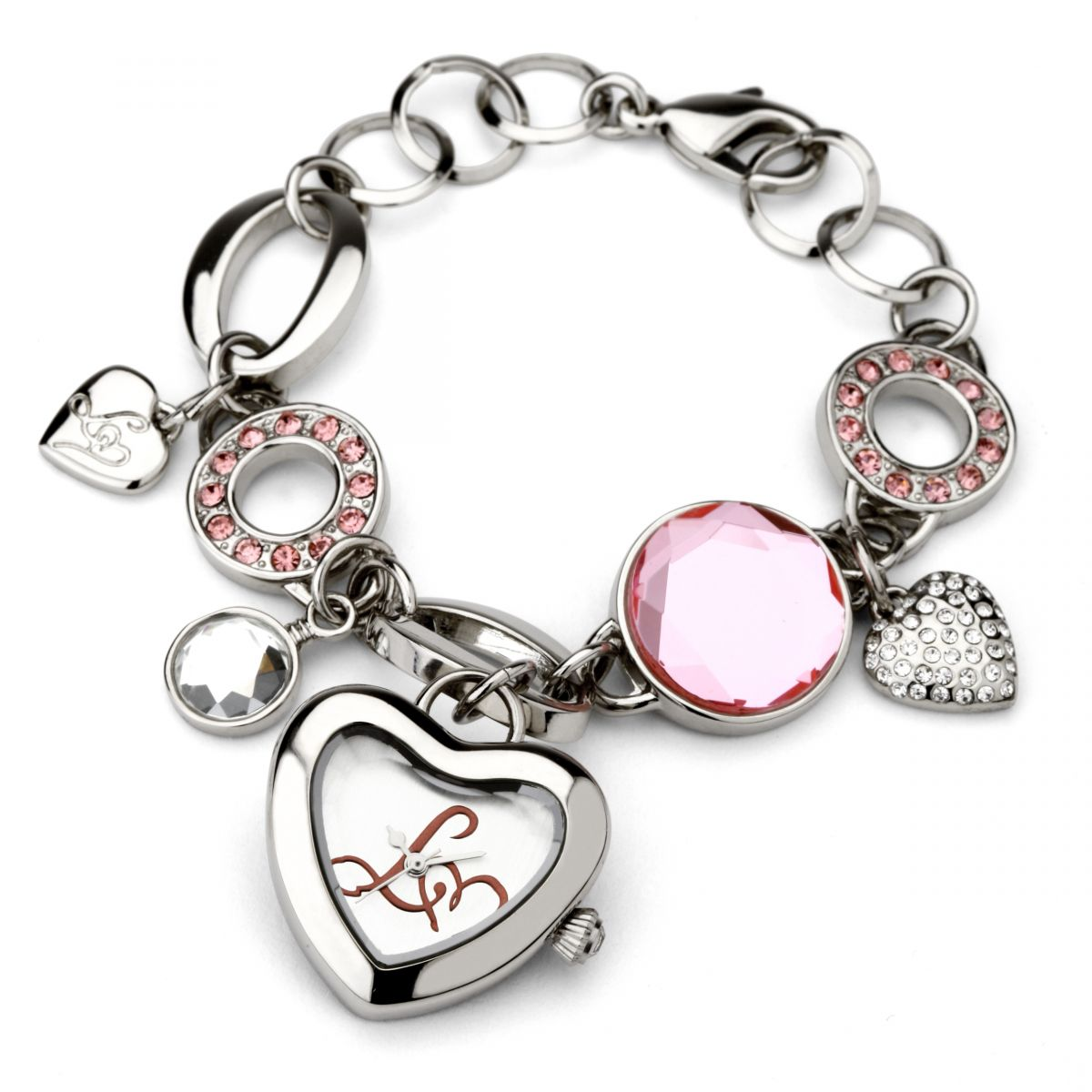 Ladies Lipsy Charm Bracelet Watch (LPLP013)