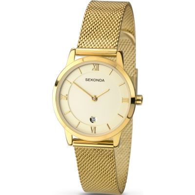 Sekonda Damenuhr in Gold 2103