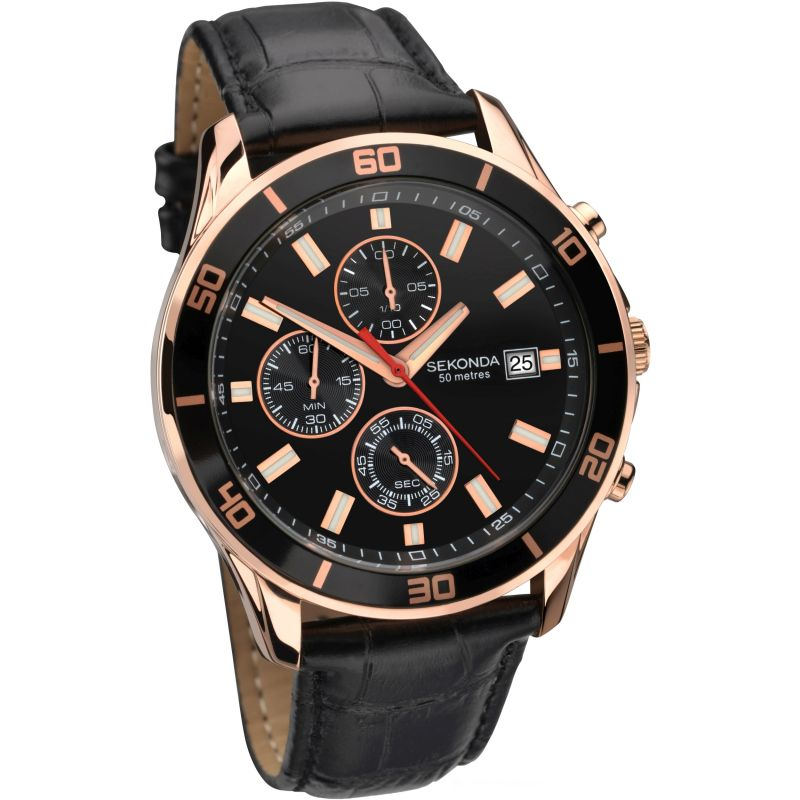Mens Sekonda Night Fall Chronograph watch