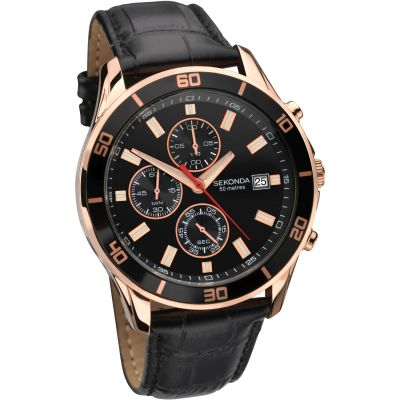 Sekonda Night Fall Herenchronograaf Zwart 1051