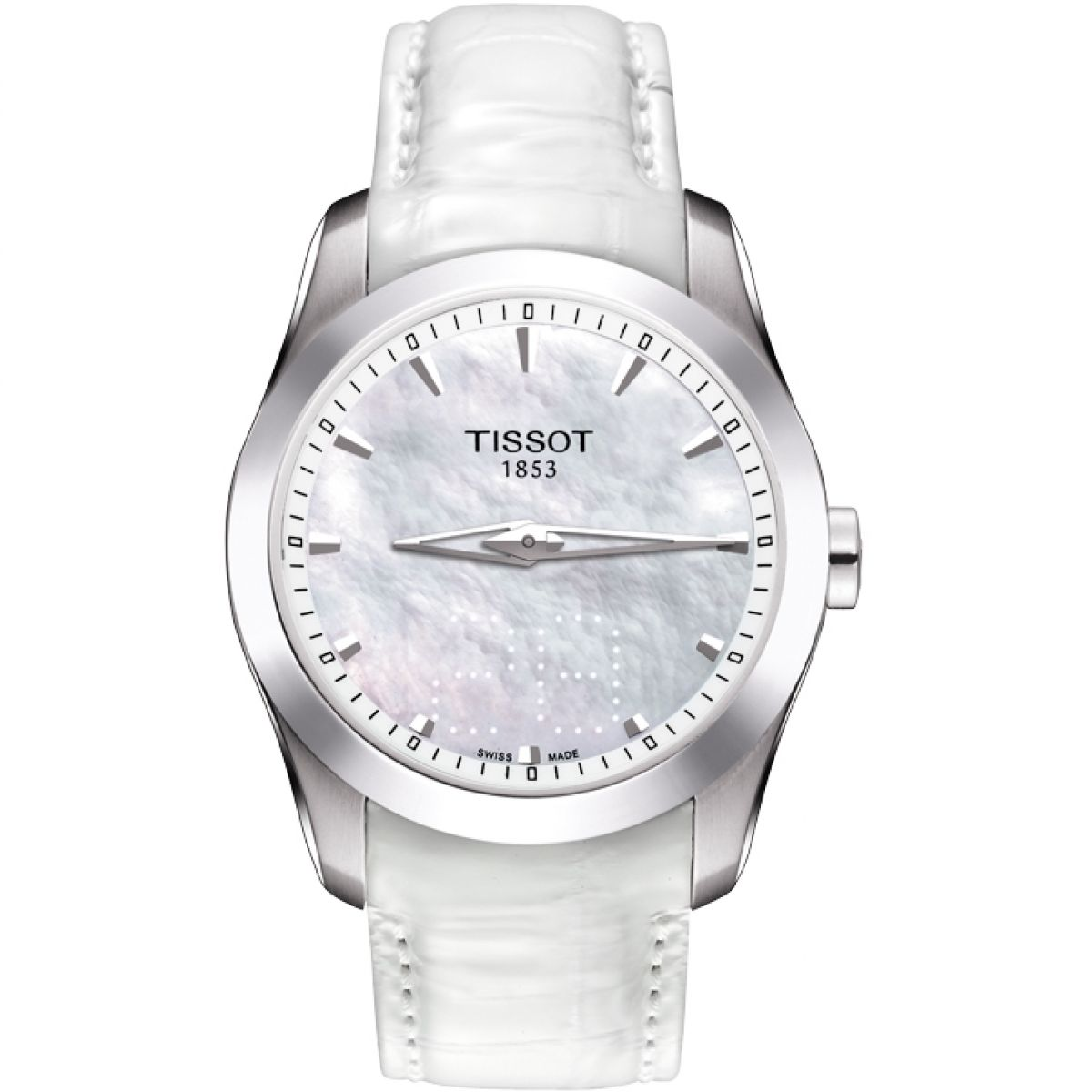 ladies dial powermatic white mother pearl watches tissot lady of heart leather watch