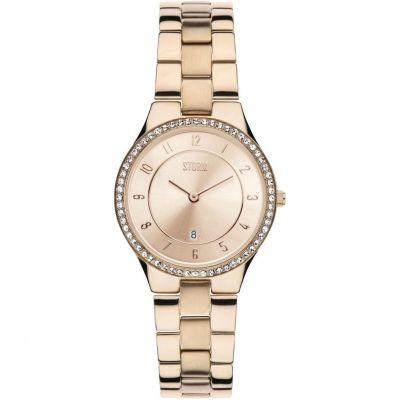 Ladies STORM Slim X Crystal Watch 47189/RG/RG