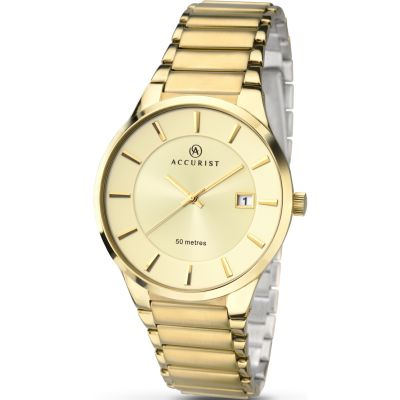 Accurist London Herenhorloge Goud 7008