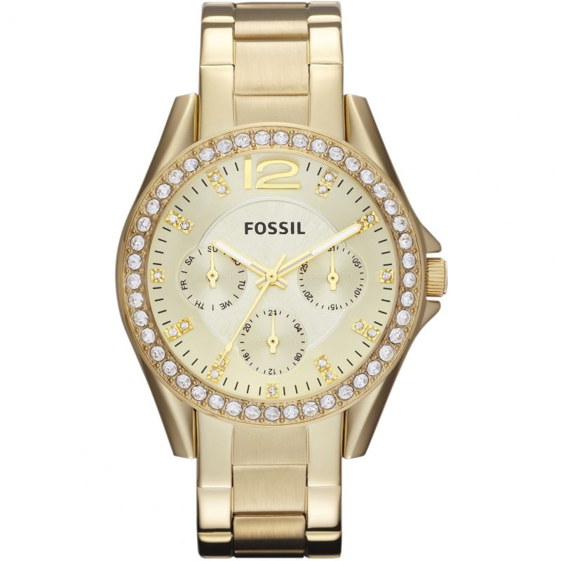 Ladies Fossil Riley Gold Watch ES3203