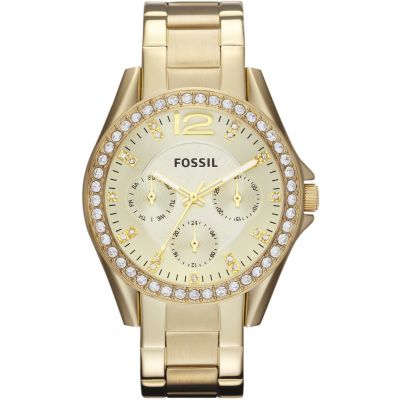 Fossil Riley Damenuhr in Gold ES3203
