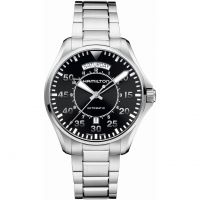 Mens Hamilton Khaki Pilot Day Date Automatic Watch H64615135