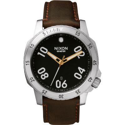 Nixon The Ranger Leather Herrklocka Svart A508-019