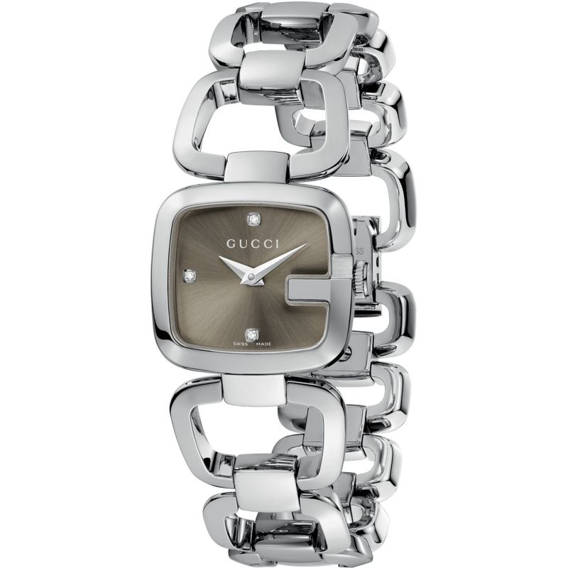 Ladies Gucci G-Gucci Diamond Watch YA125503