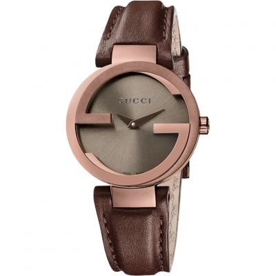 Gucci Interlocking G Damklocka Brun YA133504