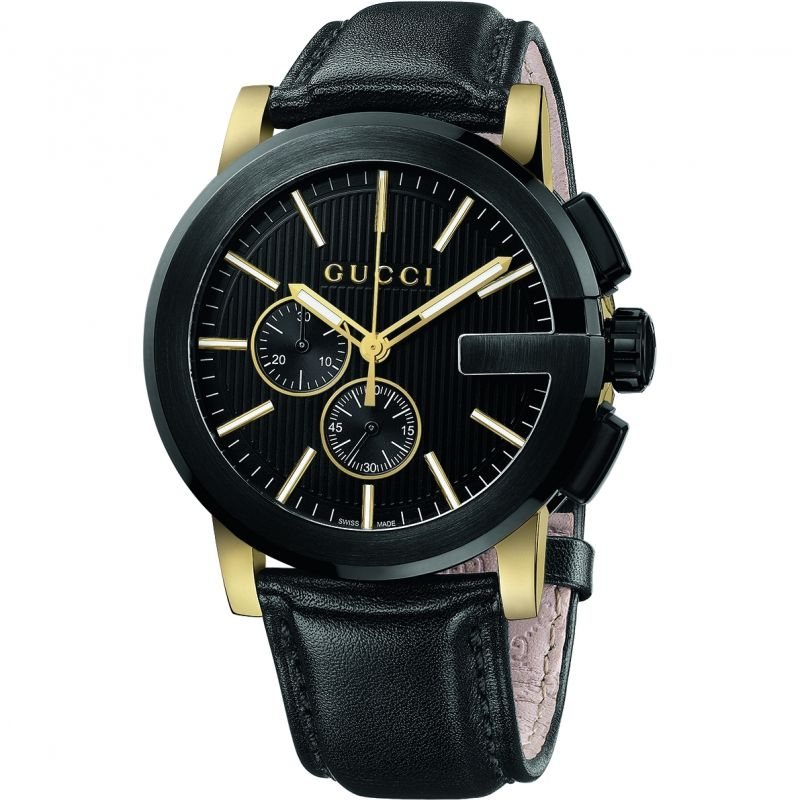 Gents Gucci G Chrono Watch YA101203