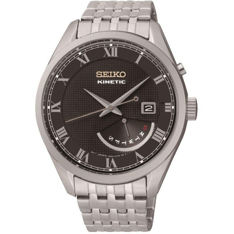 Mens Seiko Dress Retrograde Kinetic Watch