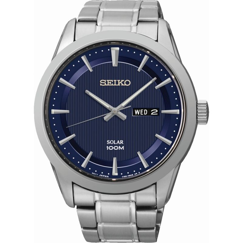 Mens Seiko Dress Solar Powered Watch SNE361P1