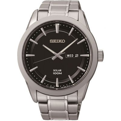 Mens Seiko Dress Solar Powered Watch SNE363P1