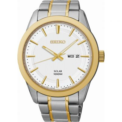 Mens Seiko Dress Solar Powered Watch SNE364P1