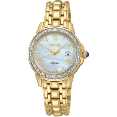 Ladies Seiko Solar Powered Watch SUT172P9