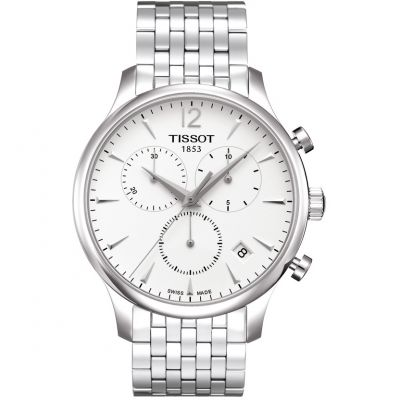 Tissot T-Classic Tradition Herrenchronograph in Silber T0636171103700