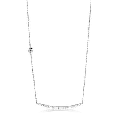 Ladies Zinzi Sterling Silver Necklace ZIC1066