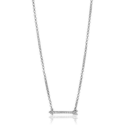 Ladies Zinzi Sterling Silver Necklace ZIC1064
