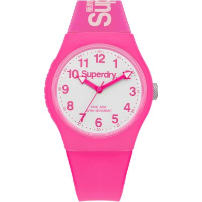 Superdry Urban Herrenuhr in Pink SYG164PW