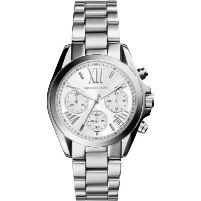 Michael Kors Mini Bradshaw Damenuhr in Silber MK6174