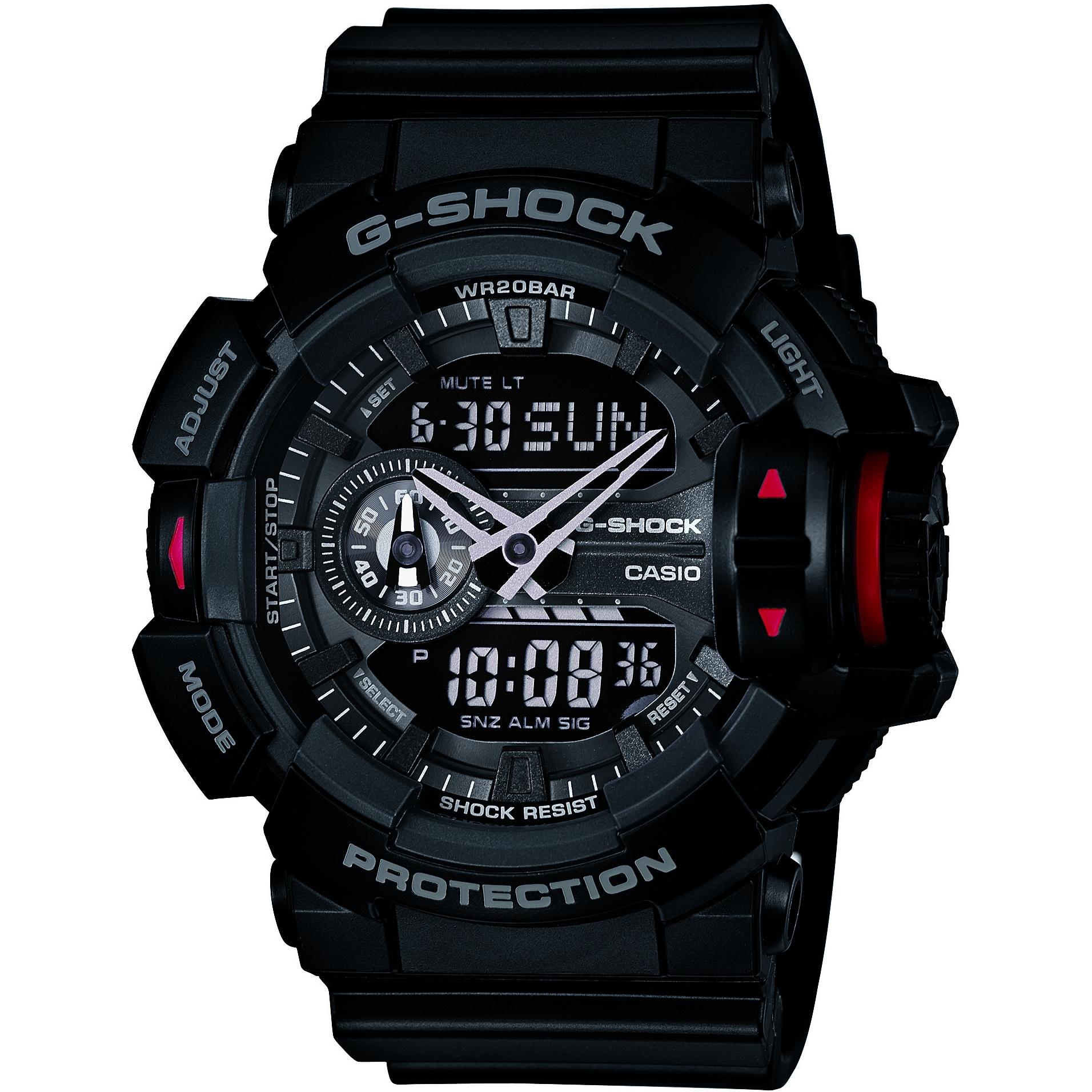 7d170220c7009 Gents Casio G-Shock Alarm Chronograph Watch (GA-400-1BER ...