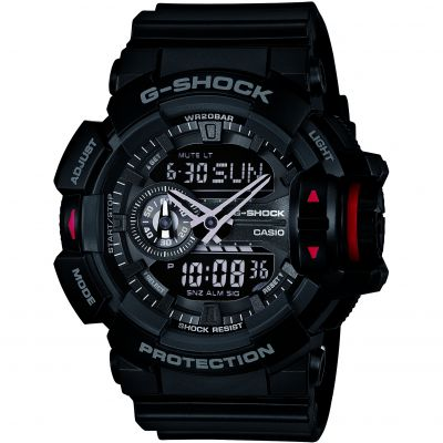 Mens Casio G-Shock Alarm Chronograph Watch GA-400-1BER